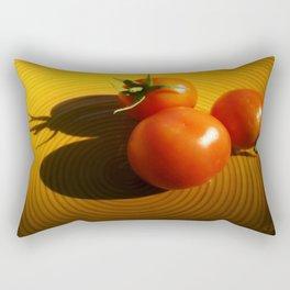 Abstract Tomato Rectangular Pillow