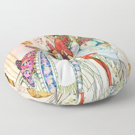 Kay Nielsen - Twelve Princesses And Cheating Prince Miraflow Floor Pillow