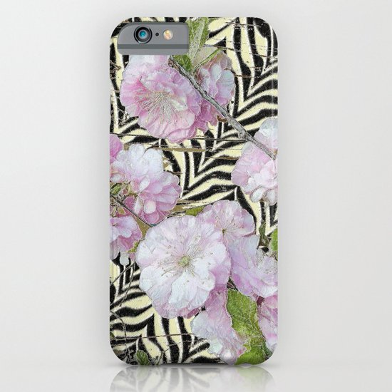 Funky Zebra & Prunus iPhone & iPod Case
