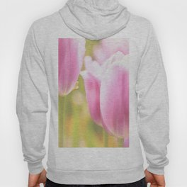 Spring is here with wonderful  colors - close-up of tulips flowers Hoody