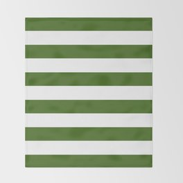 Simply Stripes in Jungle Green Throw Blanket