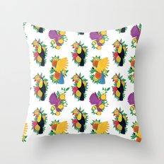 Tropical Toucan Throw Pillow