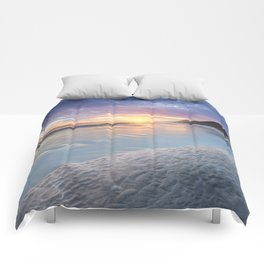 Curving into an Eleven Mile Sunset Comforters