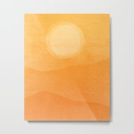 Abstract Afternoon Landscape Metal Print