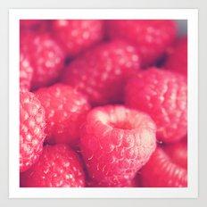 raspberries. food photograph, les framboises Art Print