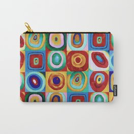 Colorful circles tile Carry-All Pouch