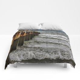 Groynes at Horsey Gap Comforters
