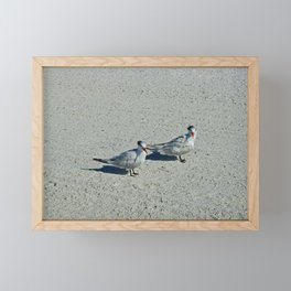 Beach Hair Framed Mini Art Print