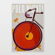 Polo Night! | Track Canvas Print