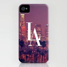 Downtown LA Vintage Skyline Typography Slim Case iPhone (4, 4s)