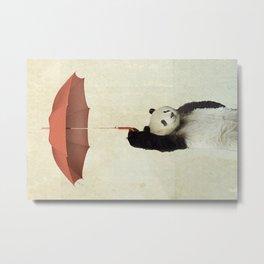 Pandachute Metal Print