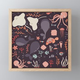 Sea creatures 002 Framed Mini Art Print