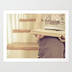 Read...in a quiet place Art Print