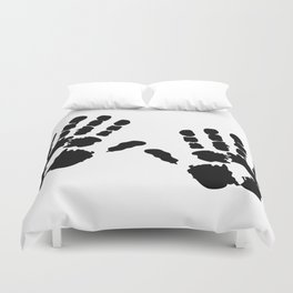 Hands  Prints Duvet Cover