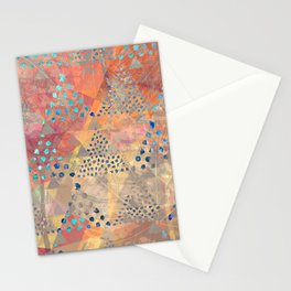 TRIANGLES DOTS LEAVES PATTERN-2 Stationery Cards