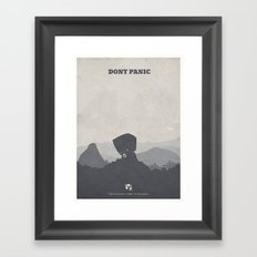 The Hitchhiker's Guide to the Galaxy - minimal poster Framed Art Print