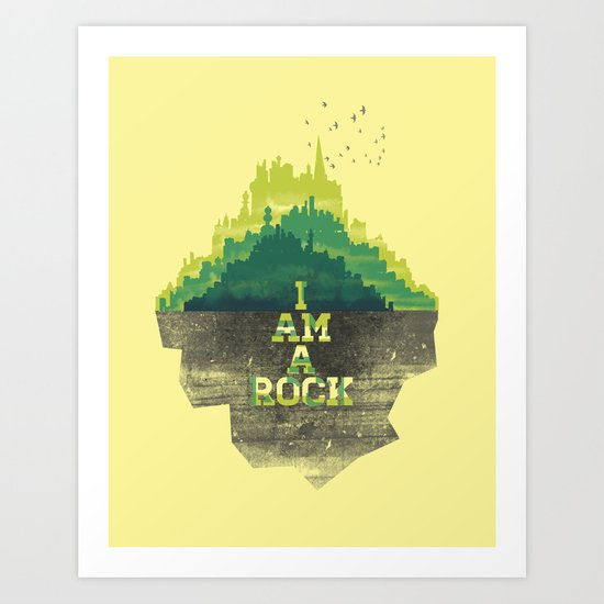 I am a Rock Art Print