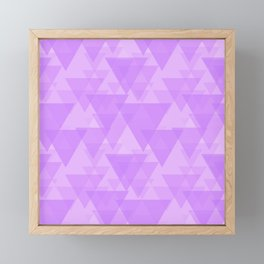 Delicate pink triangles in intersection and overlay. Framed Mini Art Print