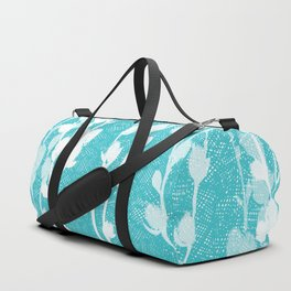 Pussywillow Silhouettes – Teal Texture Duffle Bag