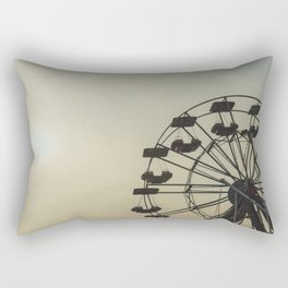 Ferris wheel in a Luna Park shortly before sunset in autumn Rectangular Pillow