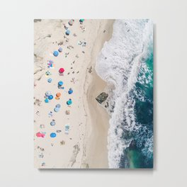 Beachin' it aerial photograph Metal Print