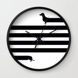 (Very) Long Dog Wall Clock