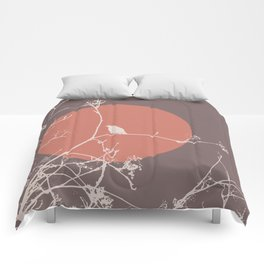 Bird on a branch 2 Comforters