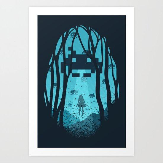 8 Bit Invasion Art Print