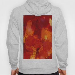 Profondo Rosso Abstract Art Expressionist Hoody