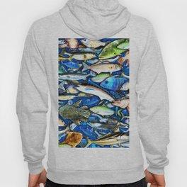 DEEP SALTWATER FISHING COLLAGE Hoody