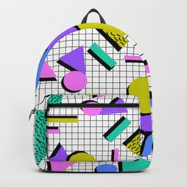 80s Retro Geometric Pattern 2 Backpack