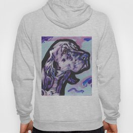 fun ENGLISH SETTER bright colorful Pop Art painting by Lea Hoody
