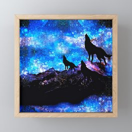 Wolf Trio Framed Mini Art Print