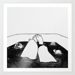 Magical bath tube. Art Print