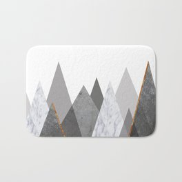 Marble Gray Copper Black and White Mountains Badematte