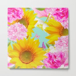 Summer Vibes With Colorful Flowers #decor #society6 #buyart Metal Print