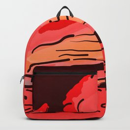 abstract style aurora borealis absdr Backpack