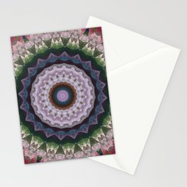 Marble kaleidoscope , mandala 2 Stationery Cards