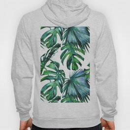 Tropical Palm Leaves Classic Hoody