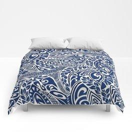 Hawaiian tribal pattern III Comforters