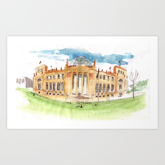 The Reichstag Art Print