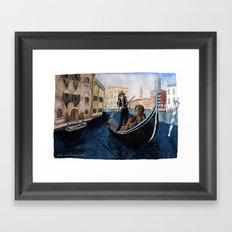 Melancholy city. Framed Art Print