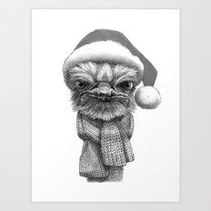 Christmas Ostrich G145 Art Print