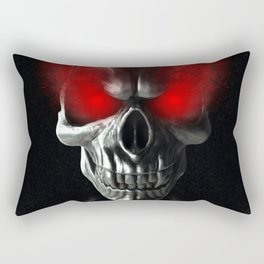 Skull with glowing red eyes Rectangular Pillow