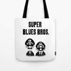Super Blues Bros. (Black and White) Tote Bag