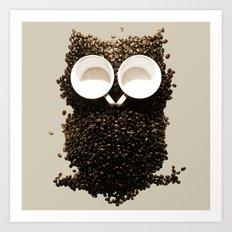 Hoot! Night Owl! Art Print