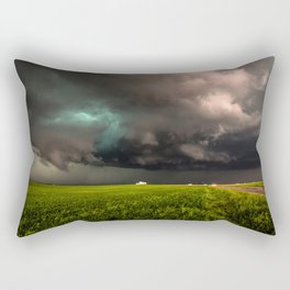 May Thunderstorm - Twisting Storm Over House in Colorado Rectangular Pillow