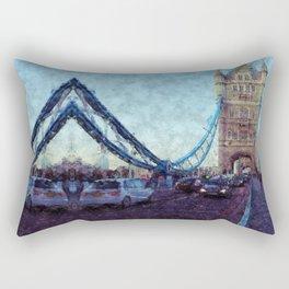 Bermondsey Divergence - Tower Bridge, London Rectangular Pillow