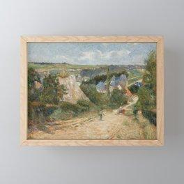 Entrance to the Village of Osny Framed Mini Art Print