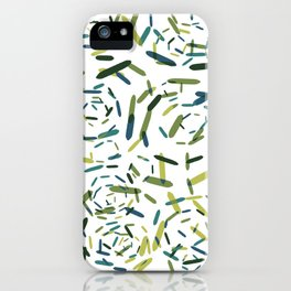 Julian, geometric in green and blue iPhone Case